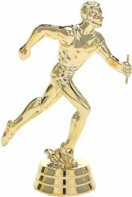 "5 1/4"" Relay Male Trophy Figure Gold"