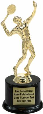 "8 1/2"" Tennis Male Trophy Kit with Pedestal Base"