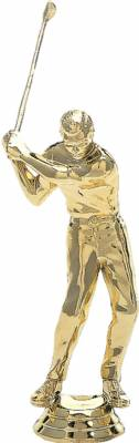 "5 1/2"" Golfer Male with Club Trophy Figure Gold"
