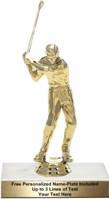 "6 1/4"" Golfer Male With Club Trophy Kit"