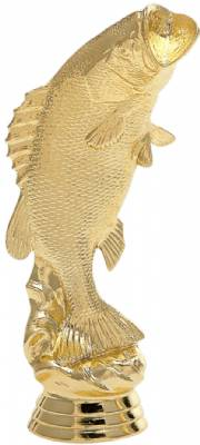 "6"" Bass Standing Trophy Figure Gold"