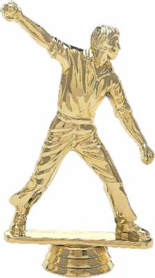 "5"" Cricket Bowler Male Trophy Figure Gold"