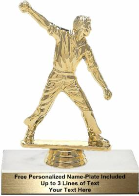 "5 3/4"" Cricket Bowler Male Trophy Kit"