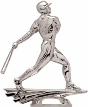 "5"" Allstar Baseball Male Trophy Figure Silver"