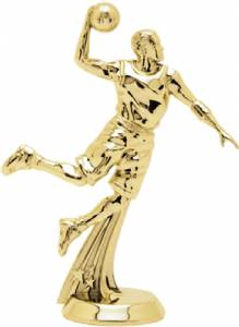 "5 3/8"" All Star Basketball Male Trophy Figure Gold"