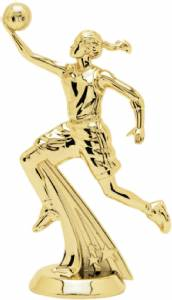 "5 1/4"" All Star Basketball Female Trophy Figure Gold"