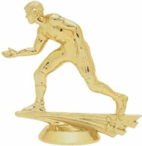 "4 3/8"" All Star Wrestler Male Trophy Figure Gold"