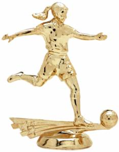 "5"" All Star Soccer Female Trophy Figure Gold"