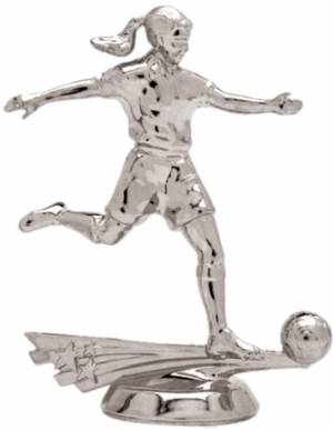 "5"" All Star Soccer Female Trophy Figure Silver"
