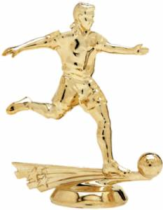 "5"" All Star Soccer Male Trophy Figure Gold"
