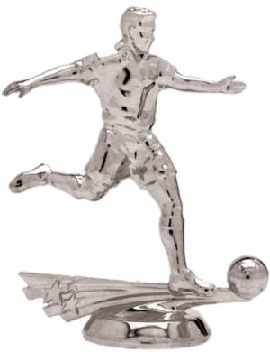 "5"" All Star Soccer Male Trophy Figure Silver"