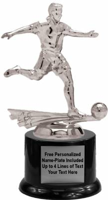 "7"" All Star Soccer Male Trophy Kit with Pedestal Base"