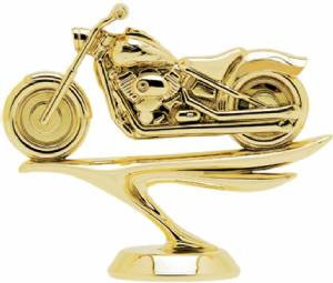 "4"" Motorcycle Soft Tail Trophy Figure Gold"
