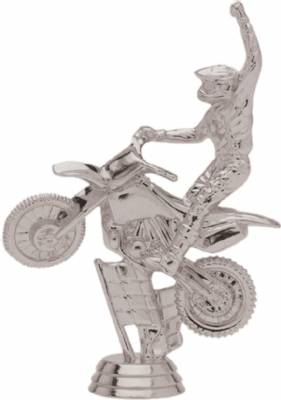 "5"" Off Road Motorcycle Trophy Figure Silver"