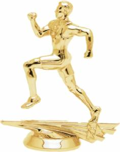 "5"" Allstar Track Male Trophy Figure Gold"