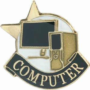 Computer Lapel Pin with Presentation Box