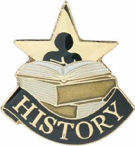 History Lapel Pin with Presentation Box