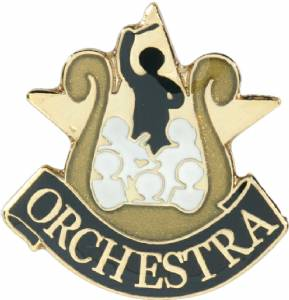 Orchestra Lapel Pin with Presentation Box