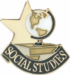 Social Studies Lapel Pin with Presentation Box