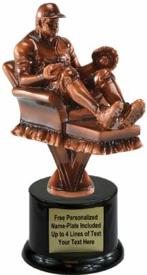 "7 1/4"" Fantasy Baseball Resin Trophy Kit with Pedestal Base"