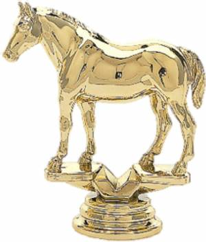 "3 3/4"" Quarter Horse Trophy Figure Gold"