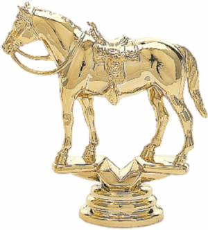 "3 3/4"" Western Horse Trophy Figure Gold"