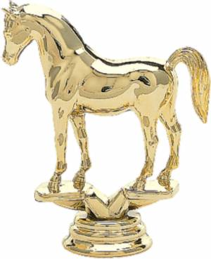 "3 3/4"" Arabian Horse Trophy Figure Gold"