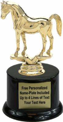 "5 3/4"" Arabian Horse Trophy Kit with Pedestal Base"