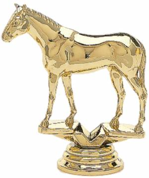 "3 3/4"" Thoroughbred Trophy Figure Gold"