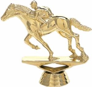 "3 3/4"" Race Horse Trophy Figure Gold"