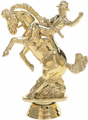 "Gold  4 1/2"" Bucking Bronc Trophy Figure"