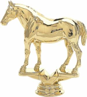 "5 1/2"" Quarter Horse Trophy Figure Gold"