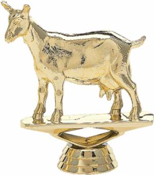 "3"" Dairy Goat Trophy Figure Gold"