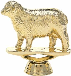 "3"" Sheep Trophy Figure Gold"