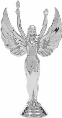 "7 1/2"" Victory Female Trophy Figure Silver"