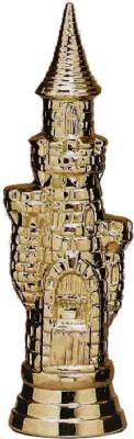 "Gold 5 3/4"" Castle Chess Trophy Figure"