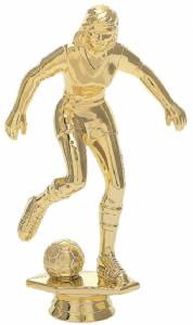 "7 3/4"" Soccer Female Trophy Figure Gold"