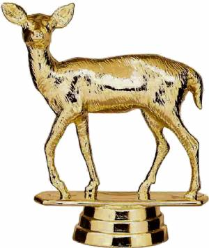 "Gold 3 1/4"" Deer Doe Trophy Figure"