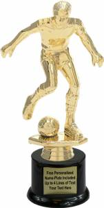 "10"" Soccer Male Trophy Kit with Pedestal Base"