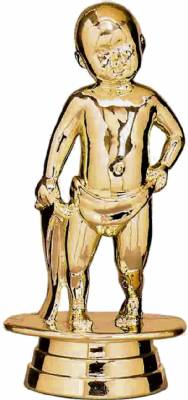 "Gold 4 1/4"" Standing Baby Trophy Figure"