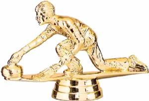"Gold 3"" Curling Male Trophy Figure"