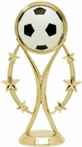 "6""  Color Sport Soccer Trophy Figure Gold"