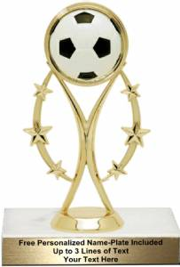 "6 3/4""  Color Sport Soccer Trophy Kit"