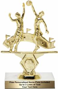 "5 3/4"" Double Action Basketball Male Trophy Kit"
