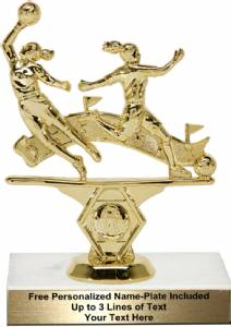 "5 3/4"" Double Action Soccer Female Trophy Kit"