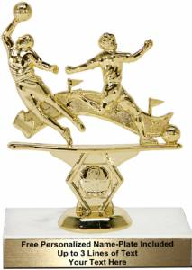 "5 3/4"" Double Action Soccer Male Trophy Kit"