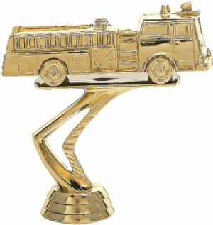"3 3/4"" Fire Engine Trophy Figure Gold"