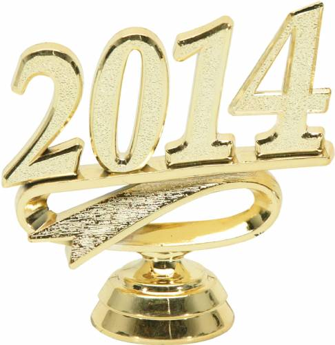 "2 1/4"" Gold ""2014"" Year Date Trophy Trim Piece"