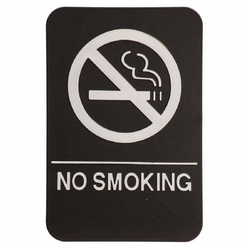 "ADA 6"" x 9"" No Smoking Sign Black/White"