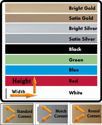 Engraving Metal Aluminum 9 Colors - Blank - Cut to Size